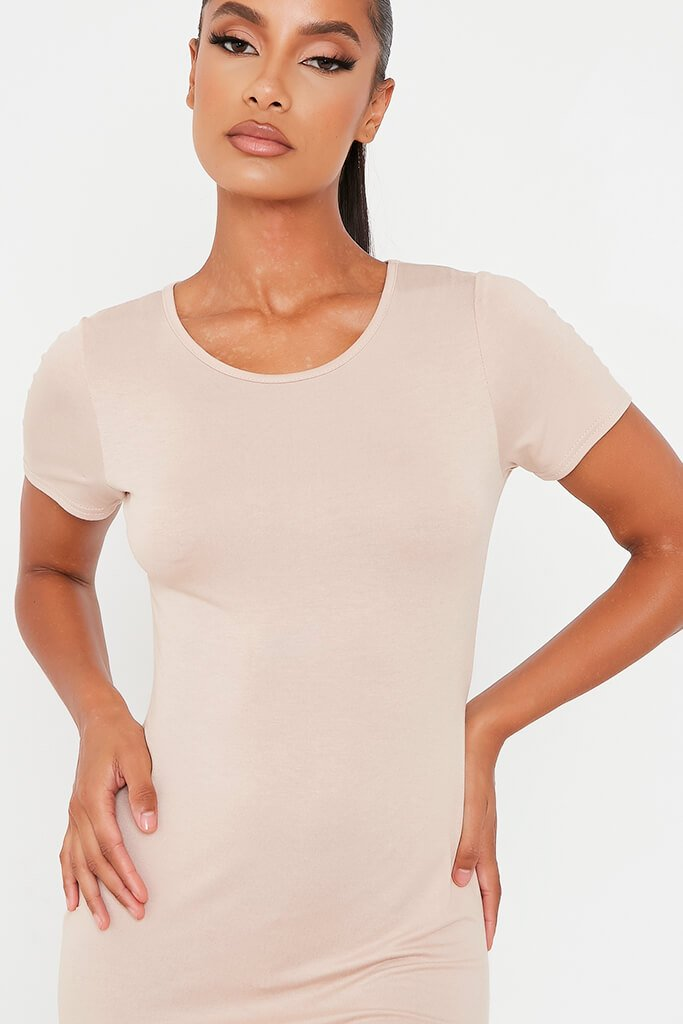 Stone Basic Jersey Fitted T Shirt Dress view 4