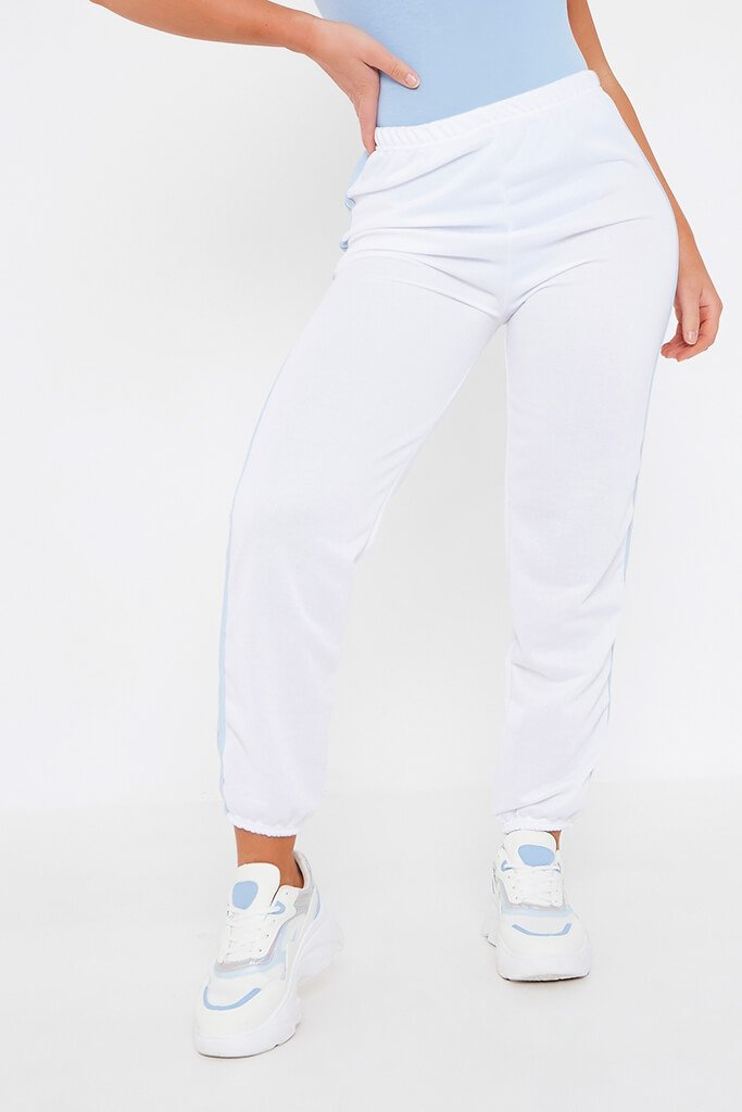 White Side Stripe Joggers view 2