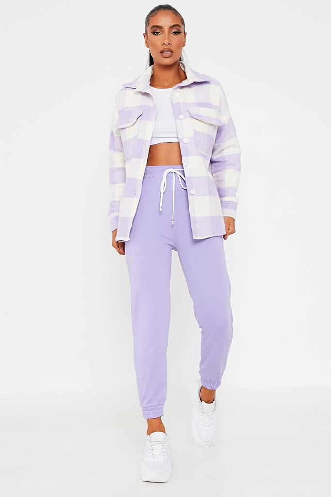 Lilac Brushed Gingham Shacket view main view