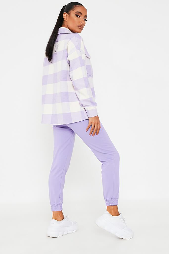 Lilac Brushed Gingham Shacket view 4