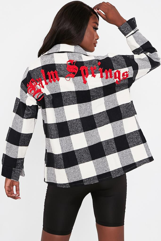 Black Palm Springs Gingham Shacket view 2