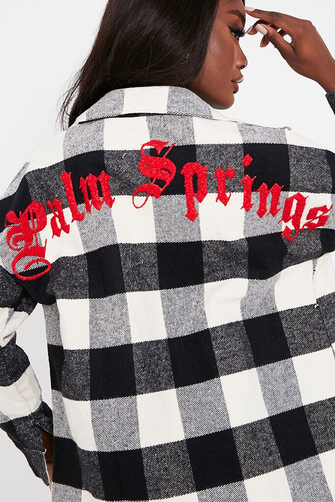 Black Palm Springs Gingham Shacket view 4