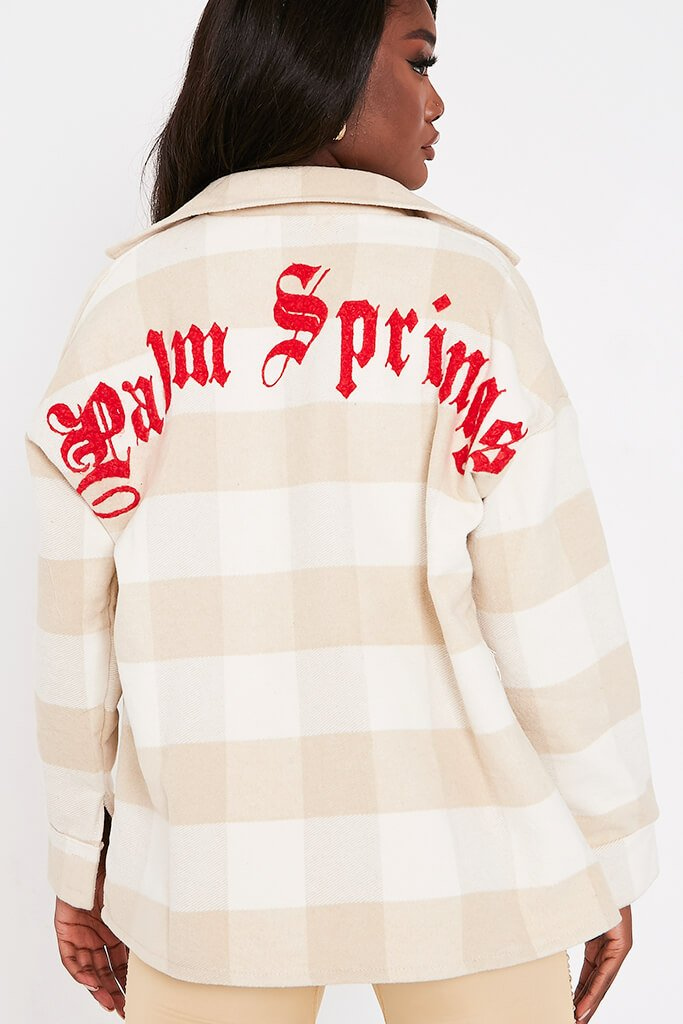 Stone Palm Springs Gingham Shacket view 4