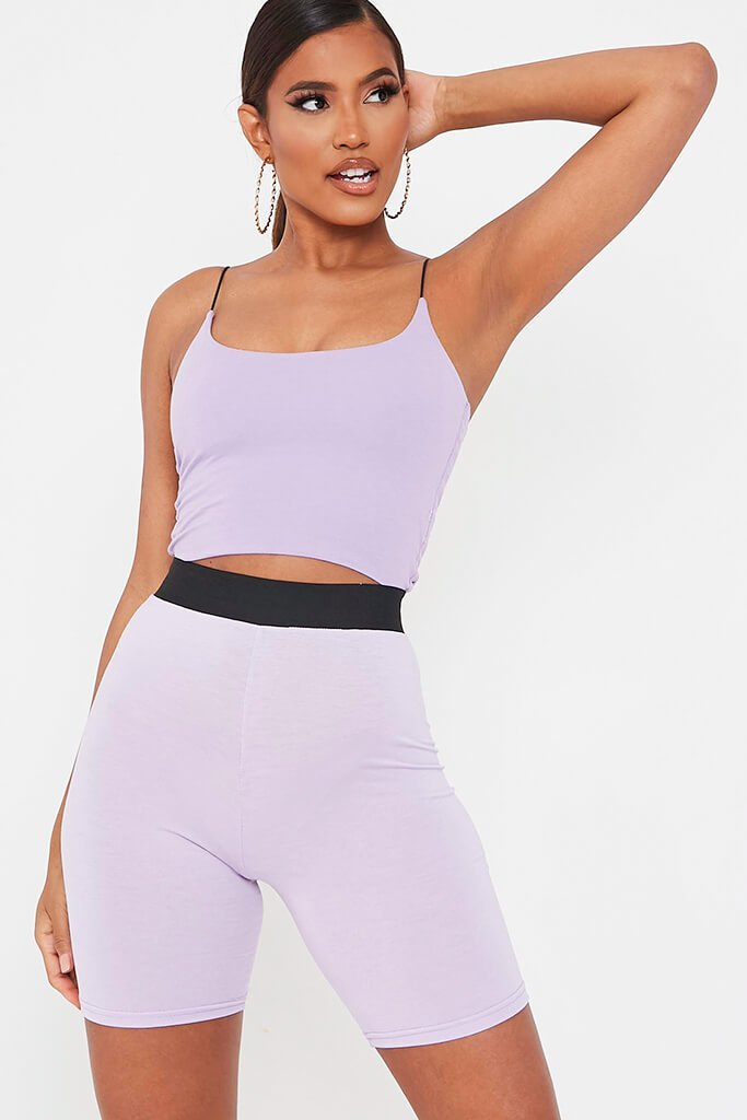 Lilac Elasticated Waist Cycling Short