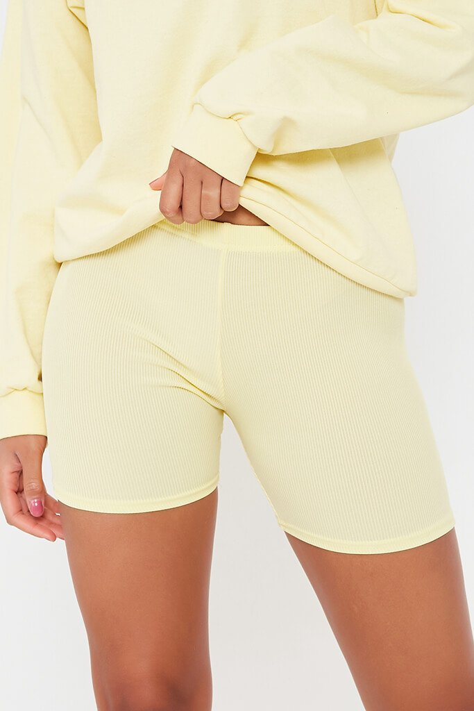 Lemon Rib Crop Cycling Shorts view 4