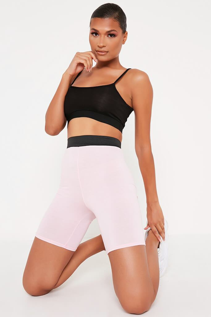 Baby Pink Elasticated Waist Cycling Short