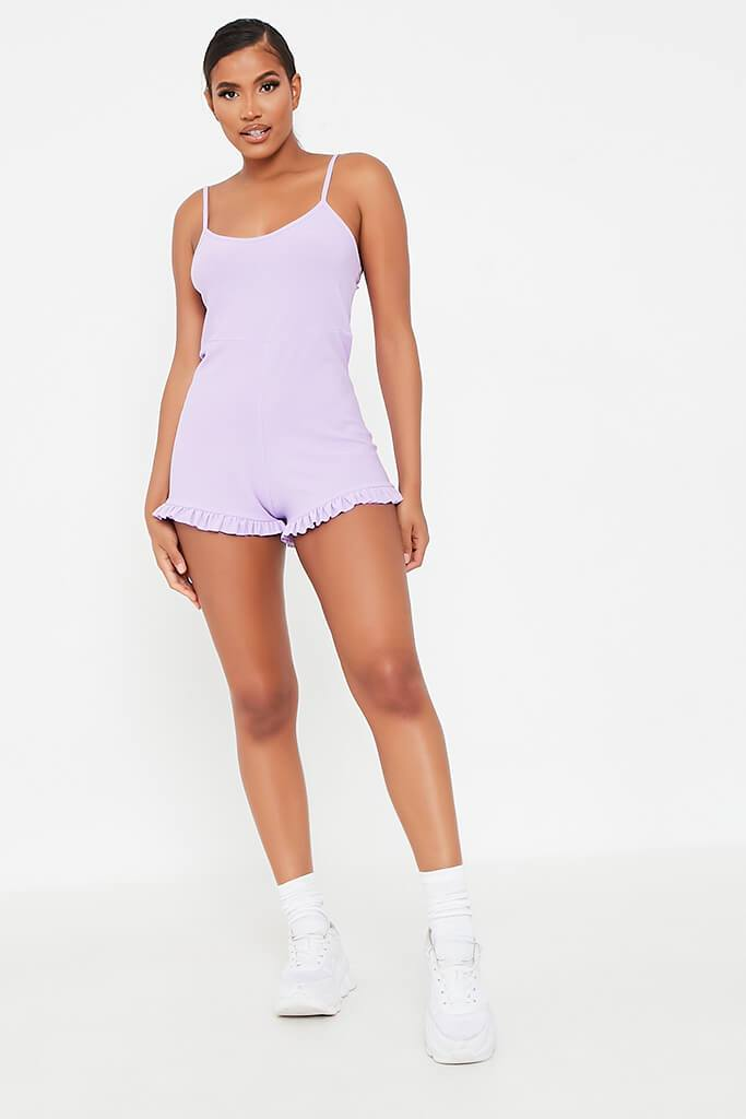 Lilac Cami Frill Hem Playsuit view 2