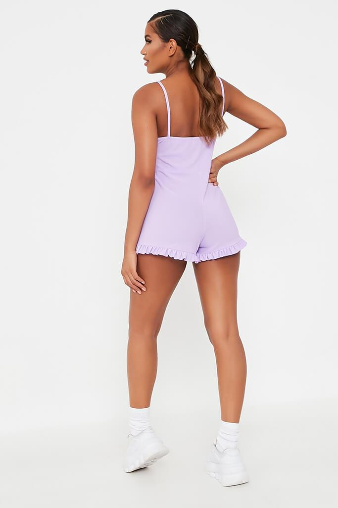 Lilac Cami Frill Hem Playsuit view 5