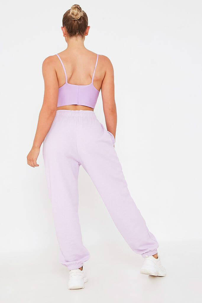 Lilac Embroidered Knit Bralet view 5