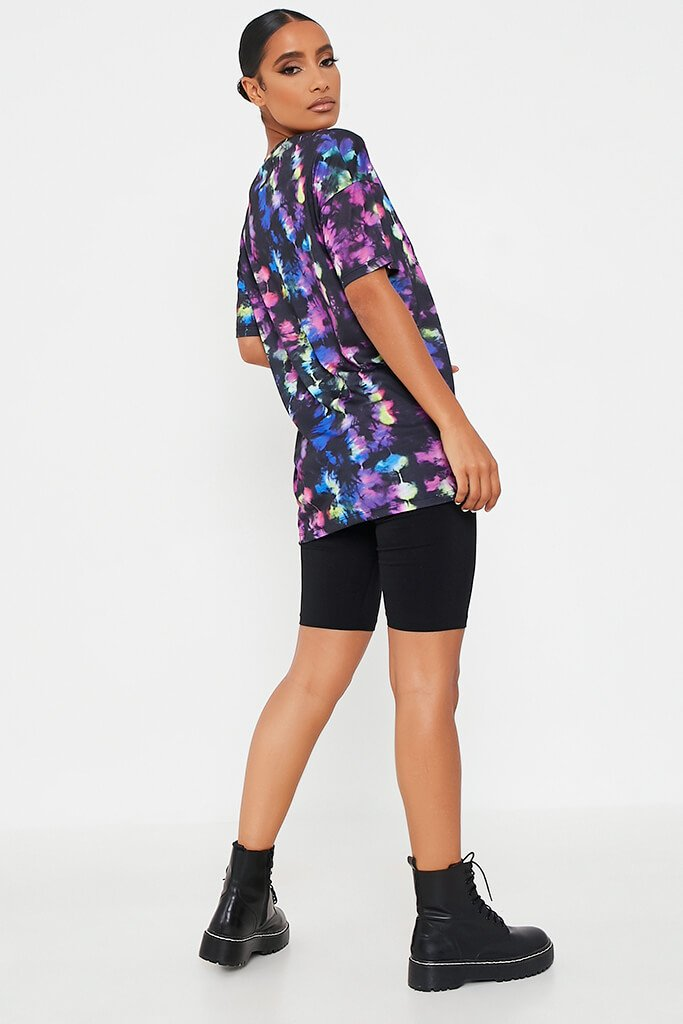 Black Tie Dye Poisonous Oversized Tshirt view 5