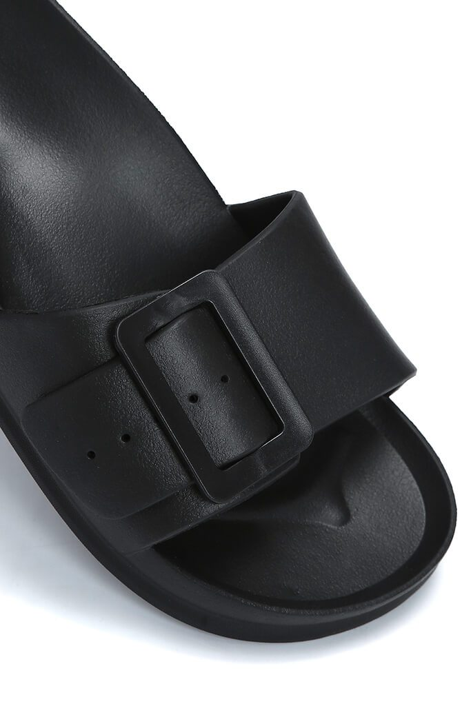 Black Buckle Detail Slider view 2