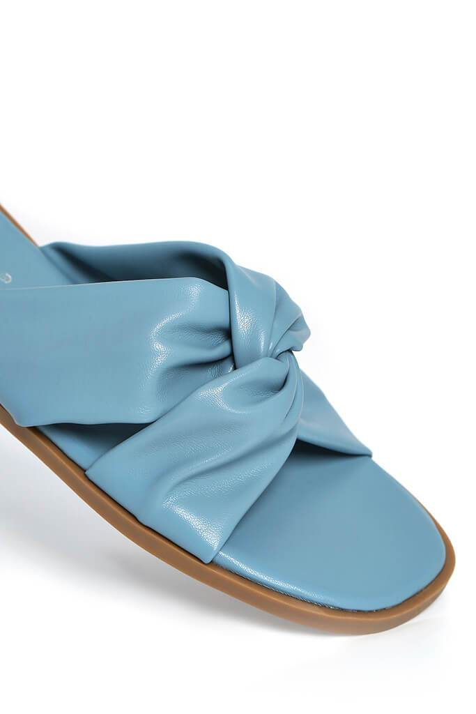 Blue Padded Knot Detail Sandal view 3
