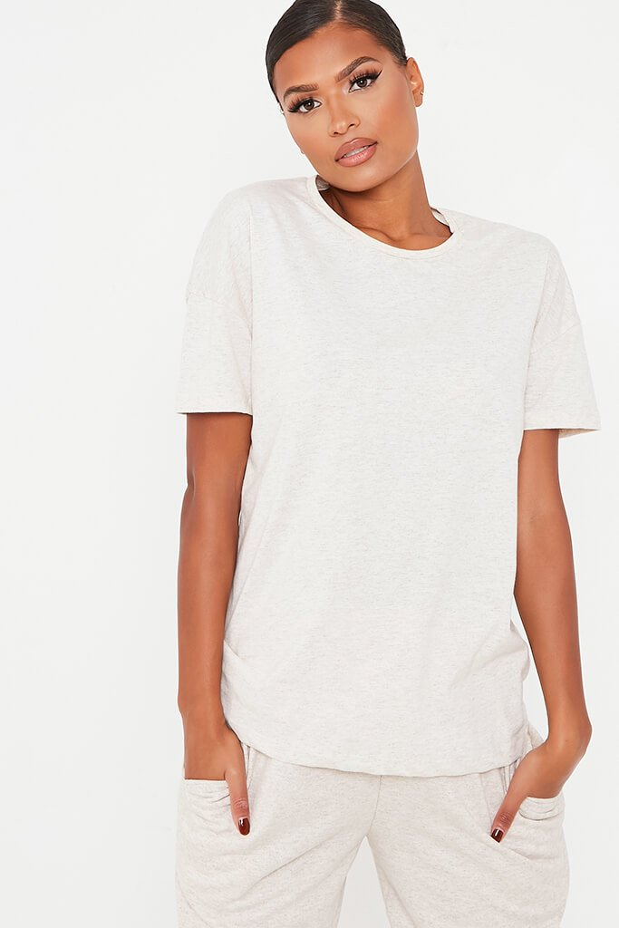 Oatmeal Basic T Shirt