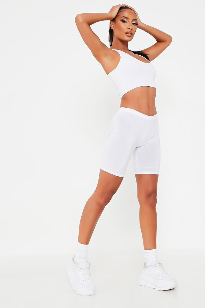 White Slinky Cycling Shorts view 3