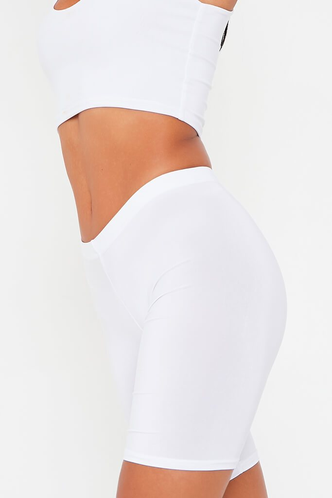 White Slinky Cycling Shorts view 4