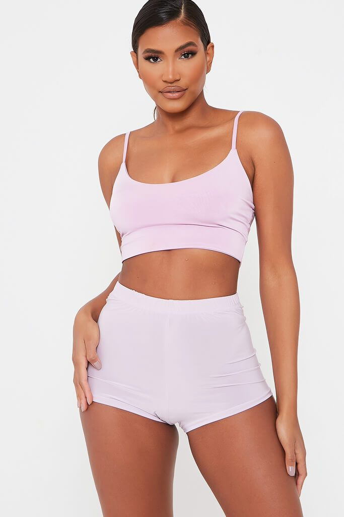 Lilac Slinky Crop Cycling Short