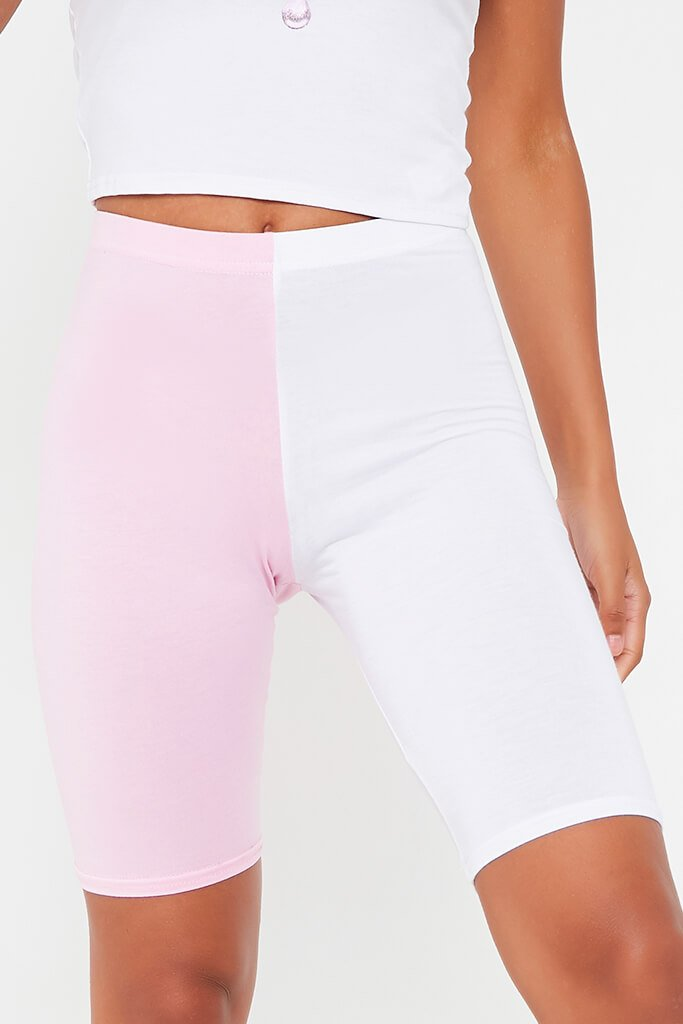 White Contrast Cycling Short view 4