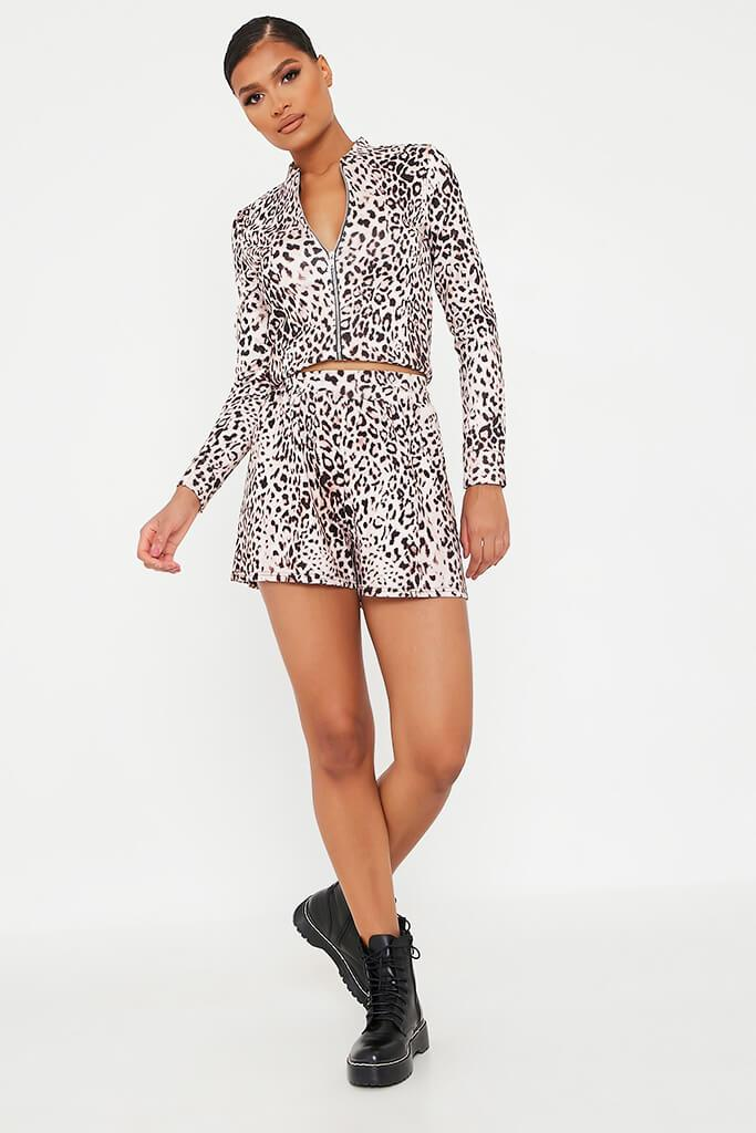 Leopard Printed Lightweight Bomber view 2