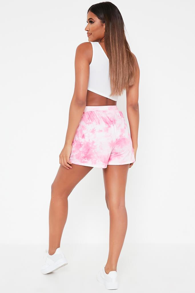 Pink Printed High Waisted Loose Fit Shorts view 5