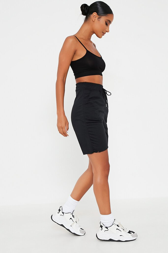 Black Drawstring Lounge Short view 3