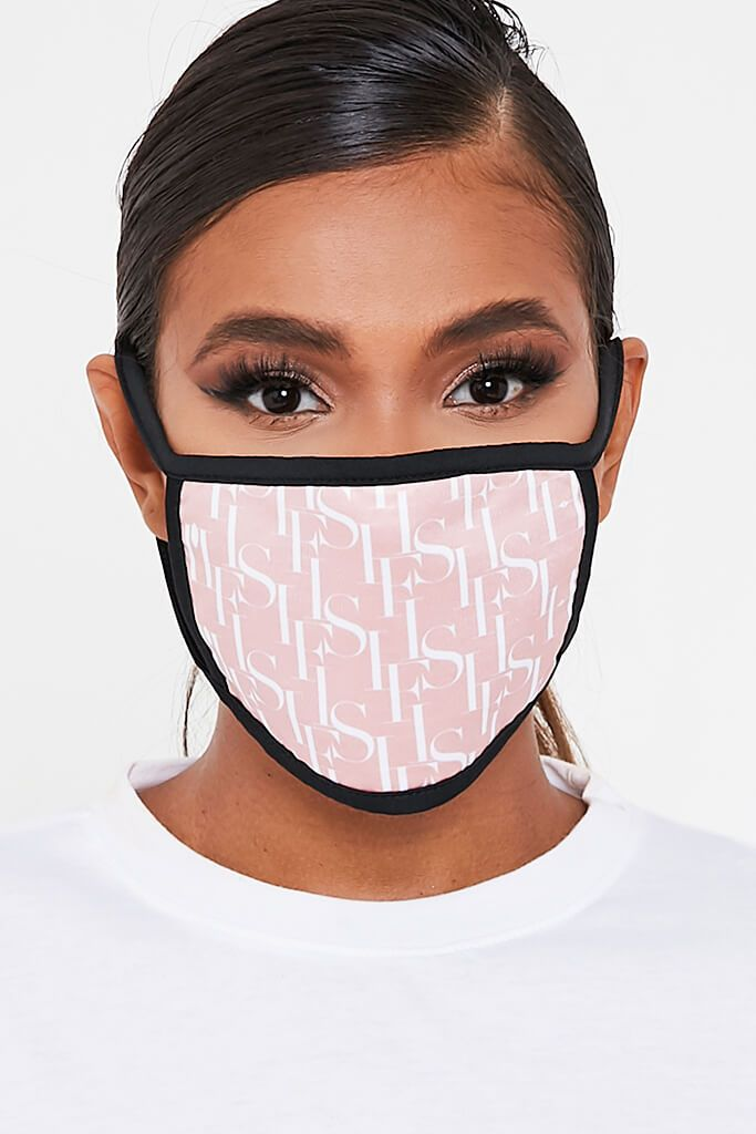 Peach I Saw It First Jacquard Face Mask