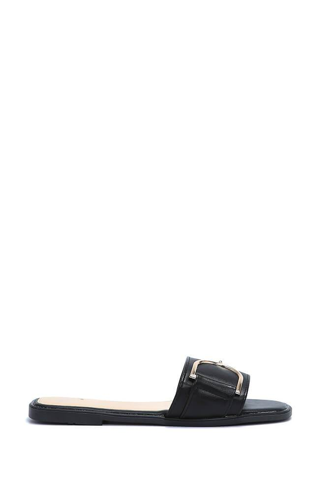 Black Buckle Detail Sliders