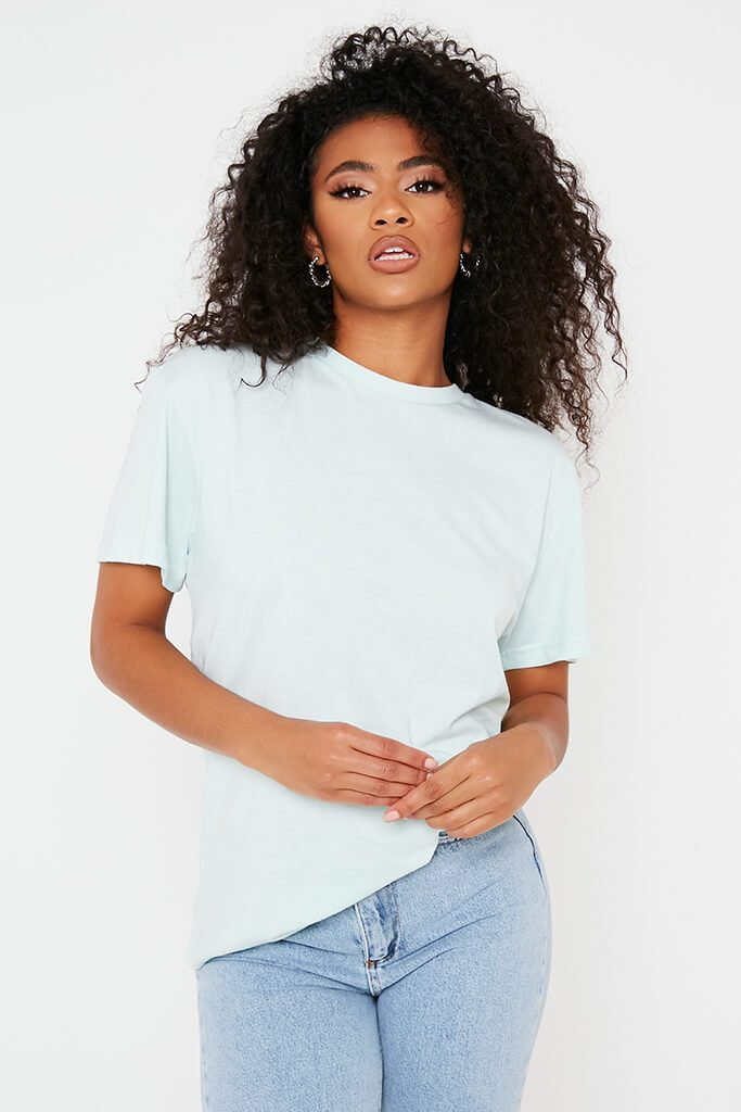 Mint Green Recycled Adalee Juice Crew T-Shirt