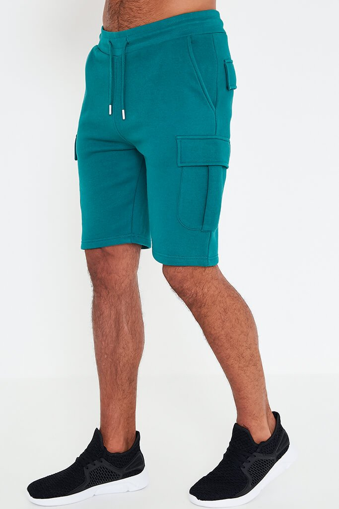 Teal Men's Handley Juice Combat Shorts view 2