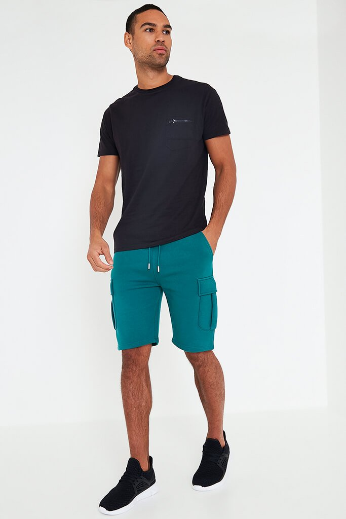 Teal Men's Handley Juice Combat Shorts view 3