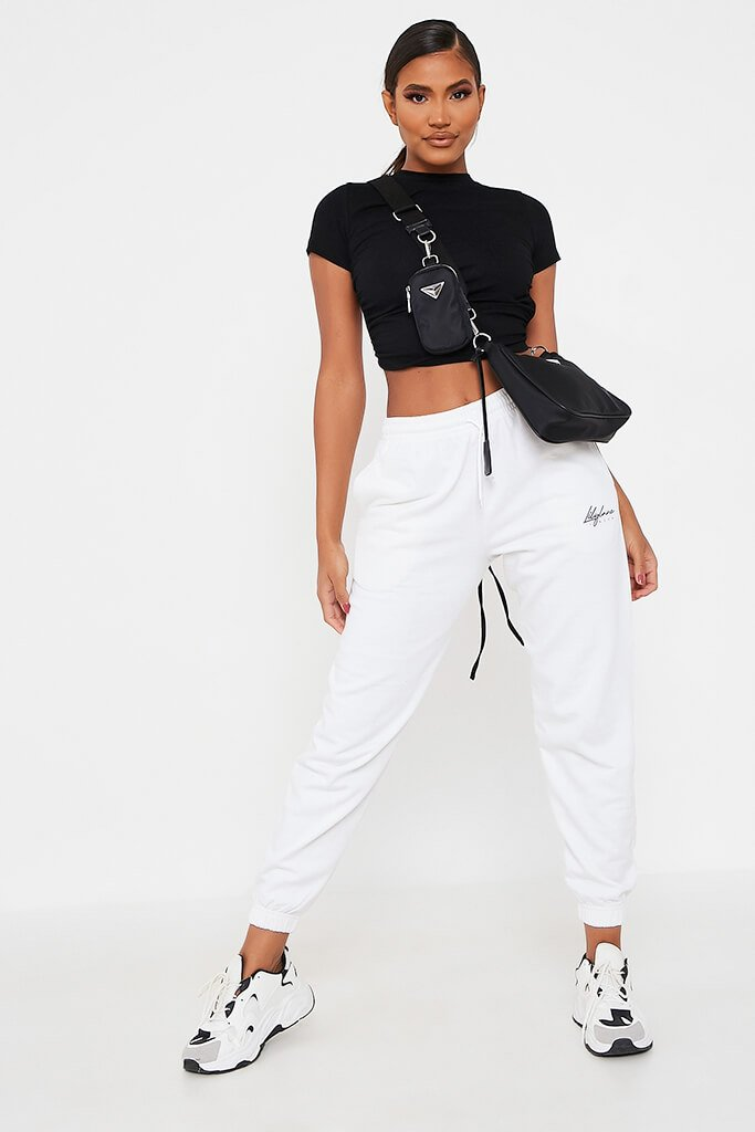 White Recycled Lilylane London Joggers