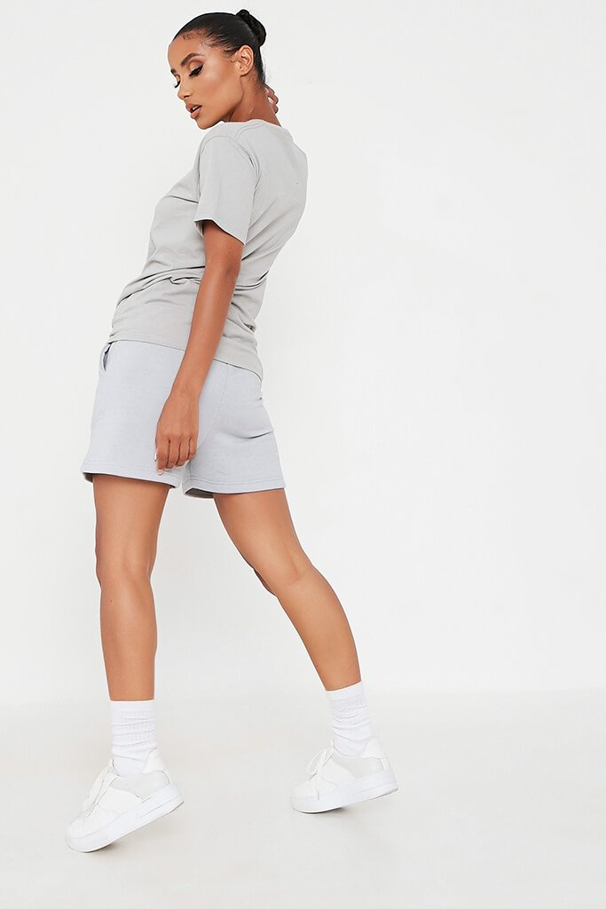 Grey Basic Oversized T-Shirt view 4
