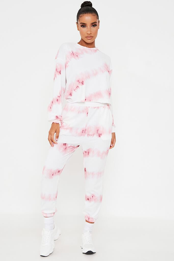 Pink Tie Dye Sweater And Jogger Set view 2