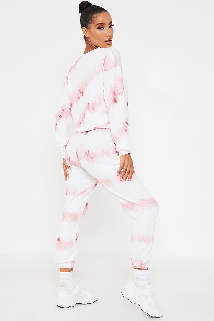 Pink Tie Dye Sweater And Jogger Set view 4
