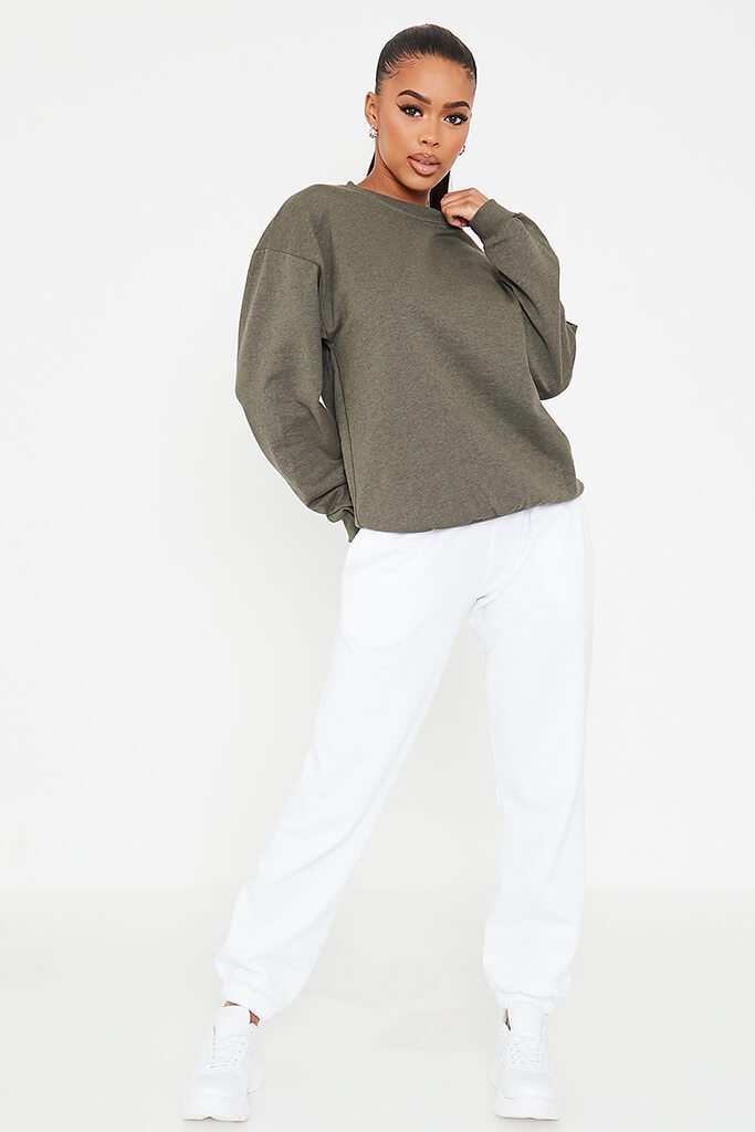 Khaki Basic Sweatshirt view 2