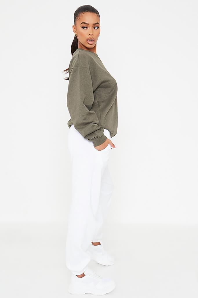 Khaki Basic Sweatshirt view 3
