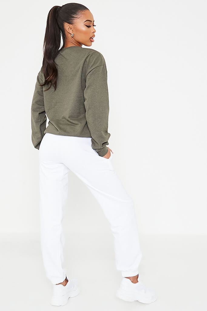 Khaki Basic Sweatshirt view 4