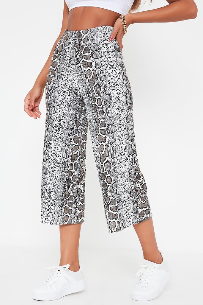 Brown Snake Print Culottes view 2