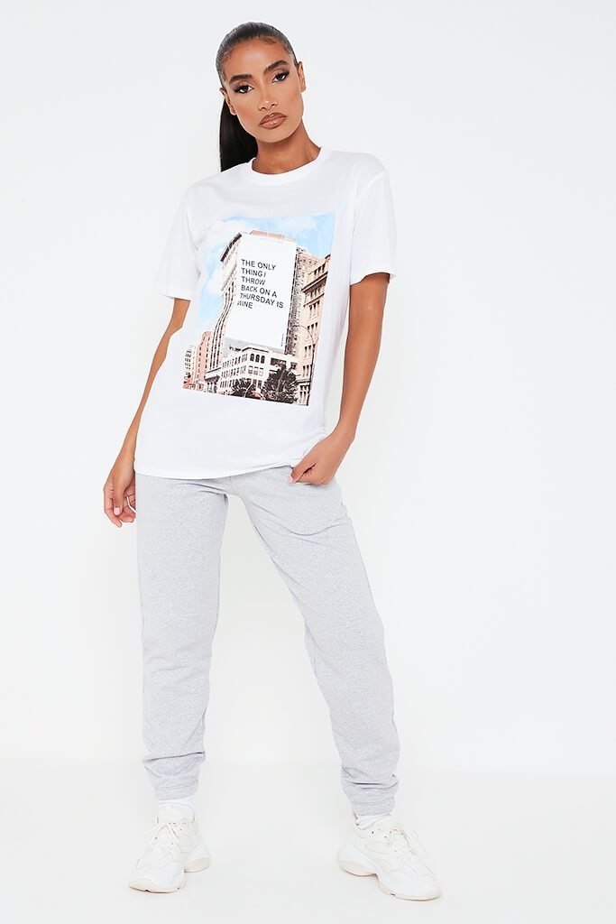 White Love At First Swipe Throwback Thursday Oversized T Shirt view 2