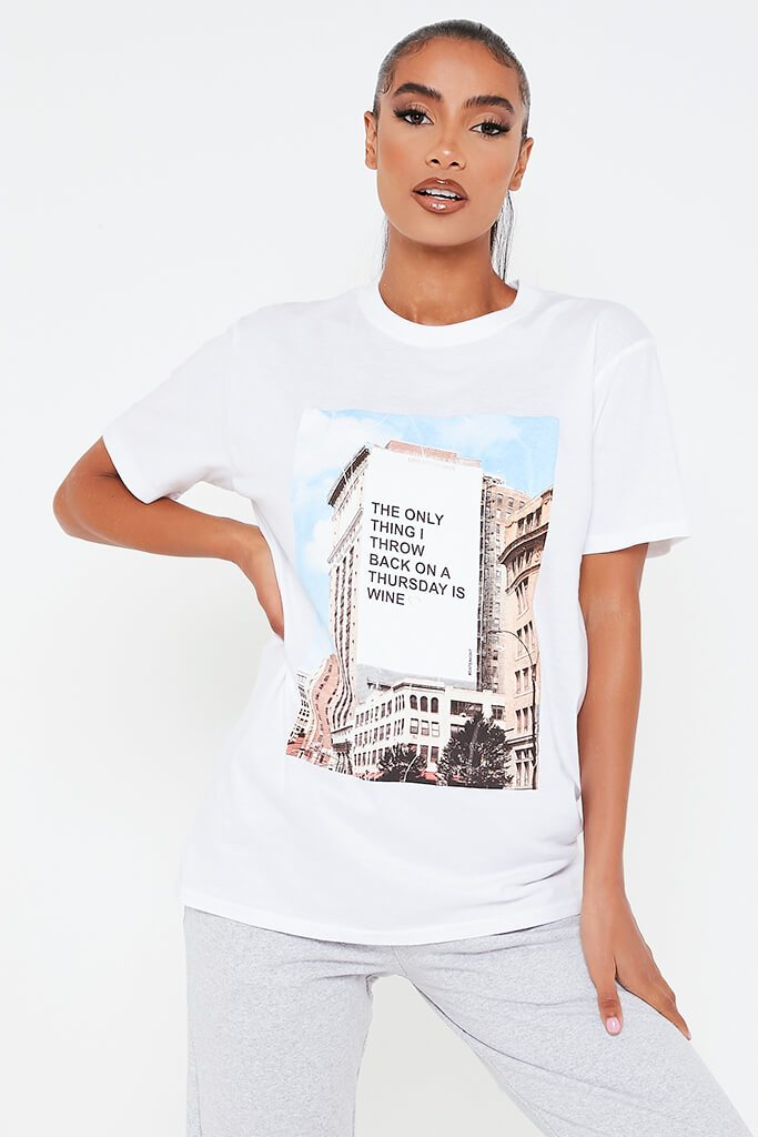 White Love At First Swipe Throwback Thursday Oversized T Shirt