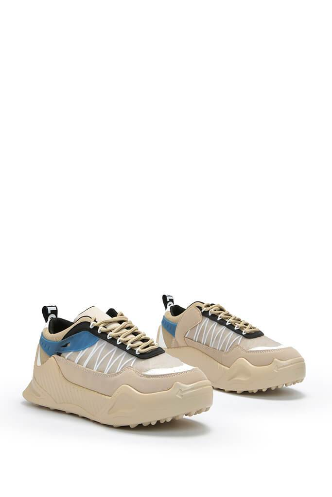 Nude Rubber Sole Chunky Trainers