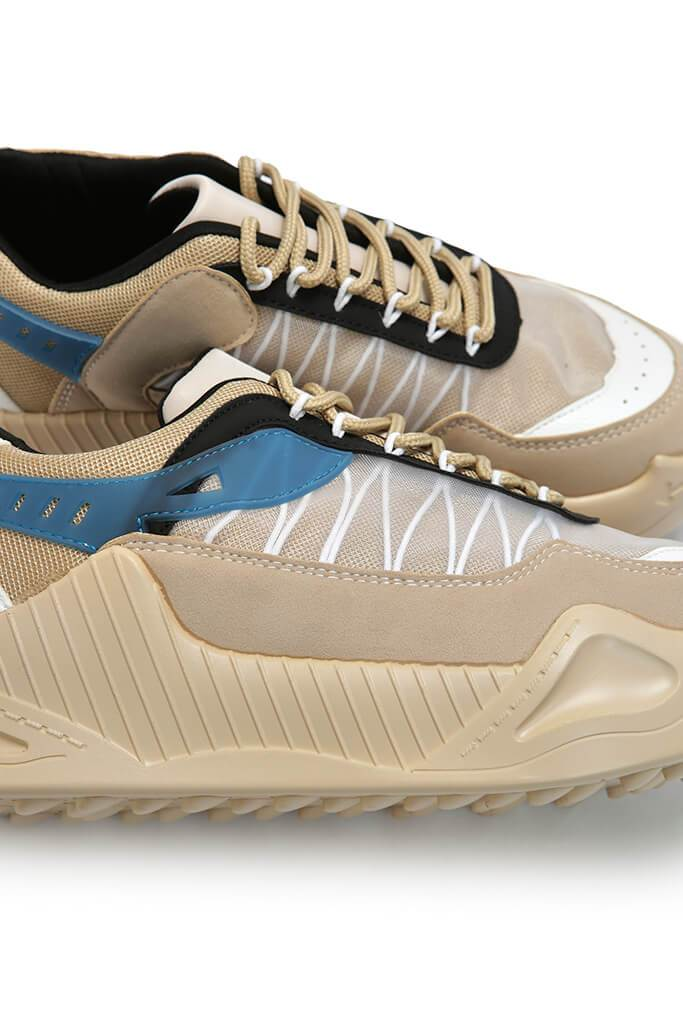 Nude Rubber Sole Chunky Trainers view 3