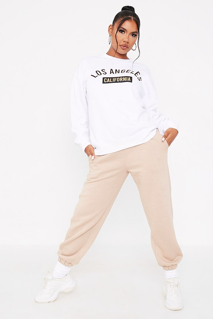 White Los Angeles College Print Sweatshirt view 2