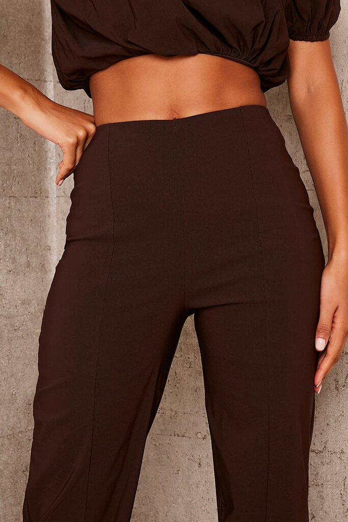 Chocolate Benagline Straight Leg Trouser view 5
