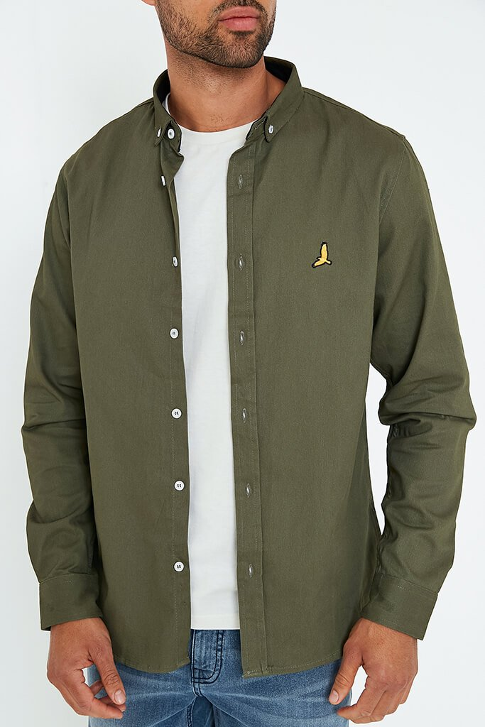Khaki Men's Brave Soul Men's Shirt view 5