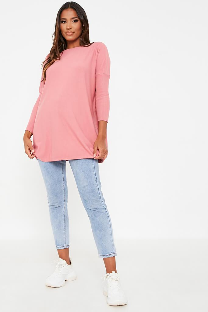 Rose Oversized Longline Batwing Jumper view 2