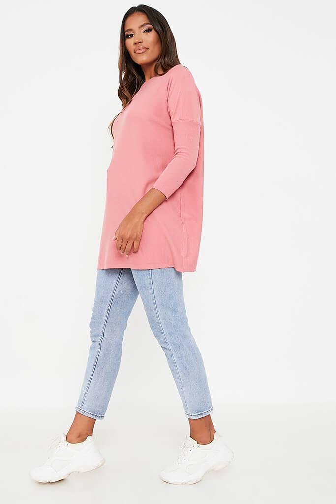 Rose Oversized Longline Batwing Jumper view 3