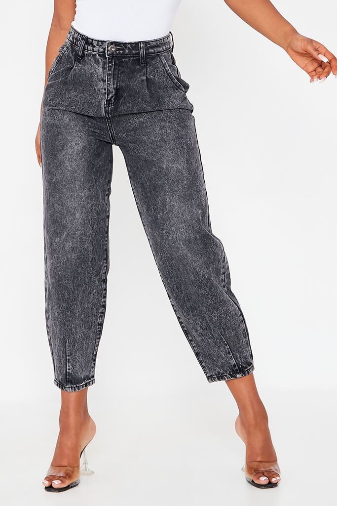 Black High Waisted Baggy Jean view 4
