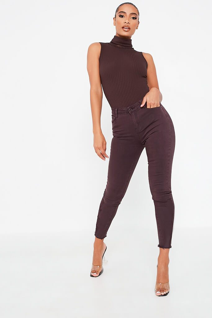 Aubergine Skinny Jeans view main view