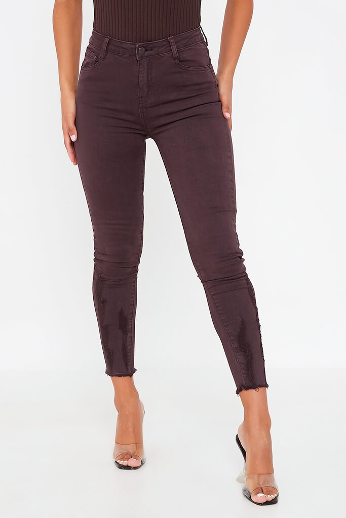 Aubergine Skinny Jeans view 2