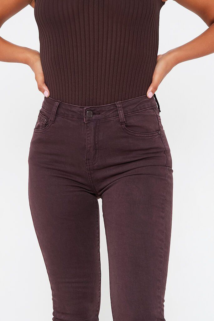 Aubergine Skinny Jeans view 4